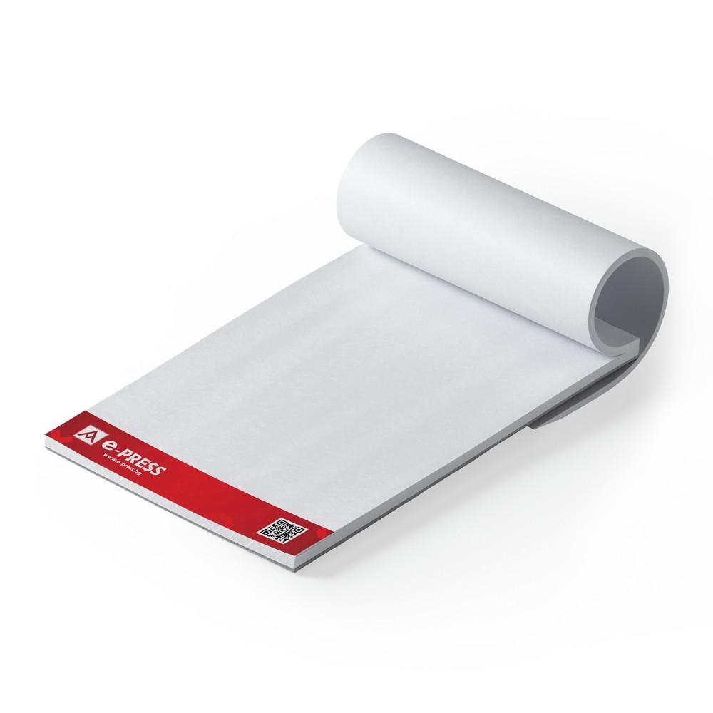 Блокнотове за писане А4 (210/297 мм) - подлепени, 100 листа