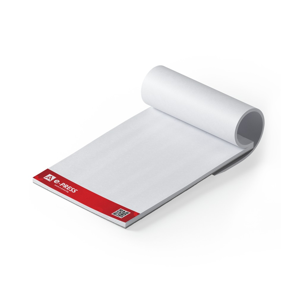 Блокнотове за писане А5 (148/210 мм) - подлепени, 50 листа
