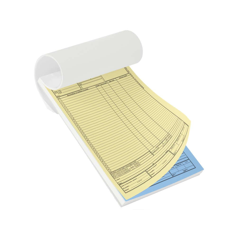 Формуляри върху химизирана хартия 2/3 А4 (210/198 мм)